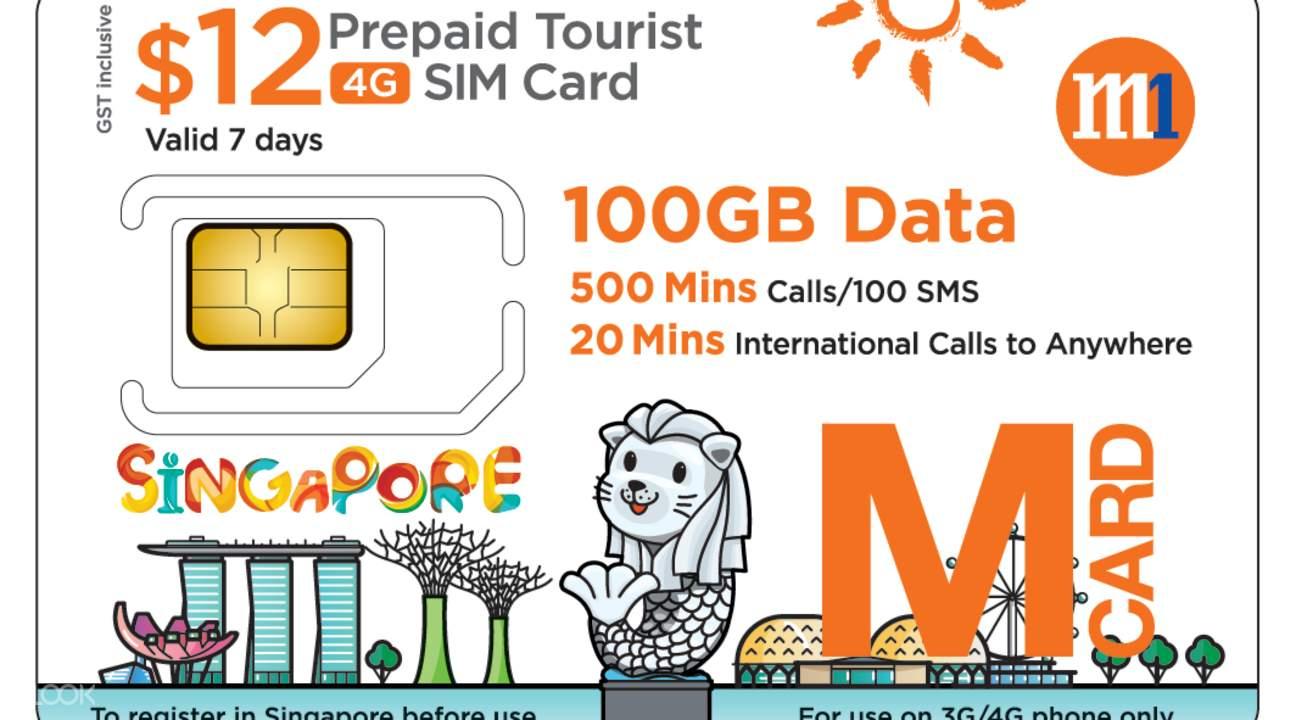 4G Tourist SIM Card worth SGD12